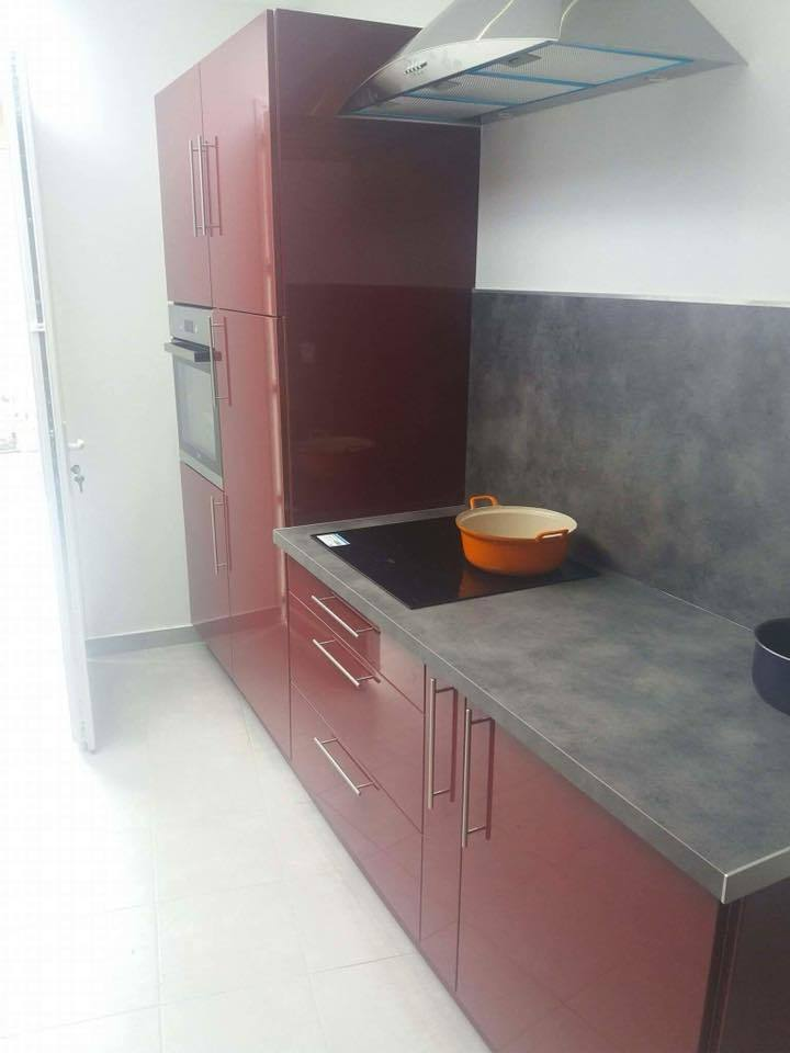 r novation d extension de maison cuisine quip e fa ade enduit carrelage de cour. Black Bedroom Furniture Sets. Home Design Ideas